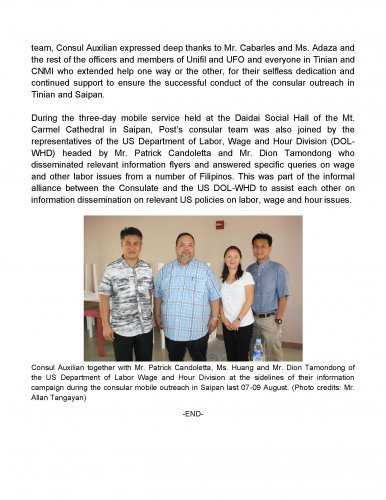 Embassy of the philippines news for Consular services
